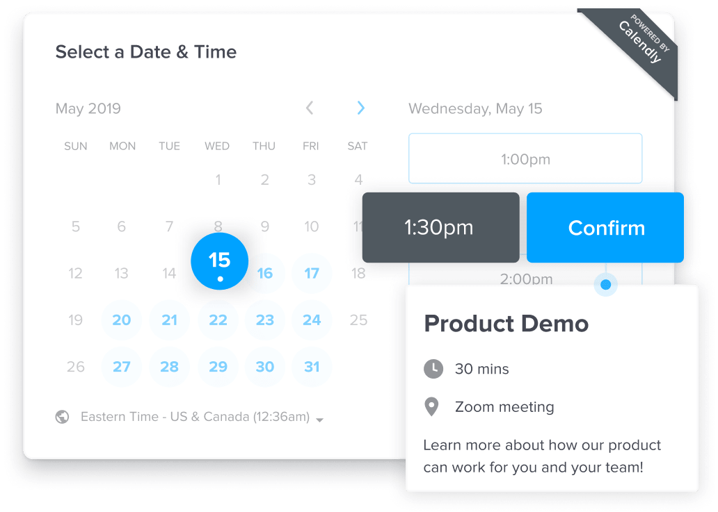 Calendly Preview - Sofware